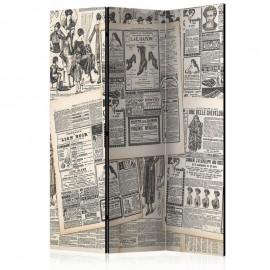 Biombo - Vintage Newspapers [Room Dividers]