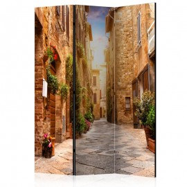 Biombo - Colourful Street in Tuscany [Room Dividers]