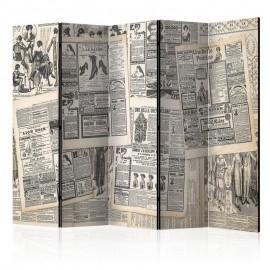 Biombo - Vintage Newspapers II [Room Dividers]