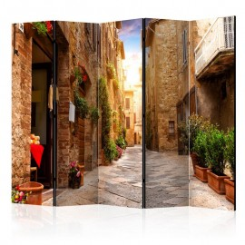 Biombo - Colourful Street in Tuscany II [Room Dividers]