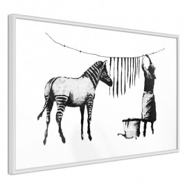 Póster - Banksy: Washing Zebra Stripes