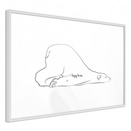 Pôster - Resting Polar Bear
