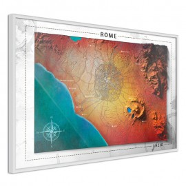 Póster - Raised Relief Map: Rome