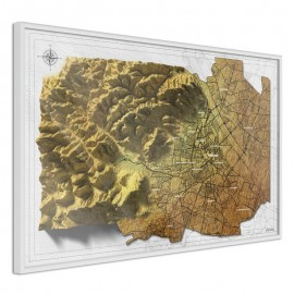 Póster - Raised Relief Map: Vienna