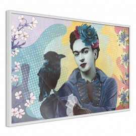 Póster - Frida with a Raven