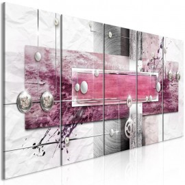 Cuadro - Mysterious Mechanism (5 Parts) Narrow Pink