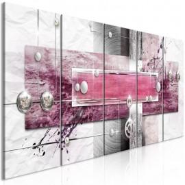 Quadro - Mysterious Mechanism (5 Parts) Narrow Pink