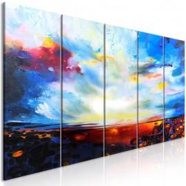 Cuadro - Colourful Sky (5 Parts) Narrow