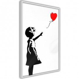 Póster - Banksy: Girl with Balloon I