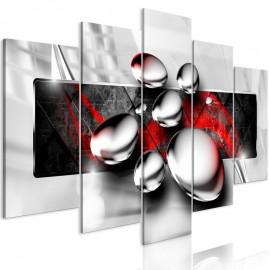 Quadro - Shiny Stones (5 Parts) Wide Red