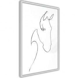 Pôster - Sketch of a Horse's Head