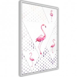 Póster - Flamingos and Triangles