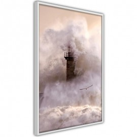 Póster - Lighthouse During a Storm