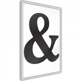 Pôster - Ampersand (Black)