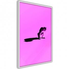 Póster - Monkey on Pink Background