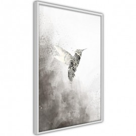 Póster - Hummingbird in Shades of Grey