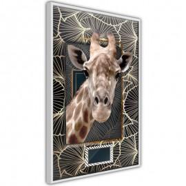 Póster - Giraffe in the Frame