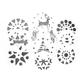 SET 10 PLANTILLAS DECORADORAS DE TARTAS