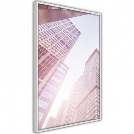 Pôster - Steel and Glass (Pink)