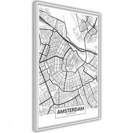 Pôster - City map: Amsterdam