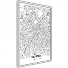 Póster - City map: Brussels