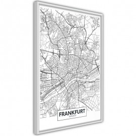 Póster - City map: Frankfurt