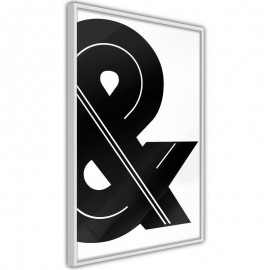 Pôster - Ampersand (Black and White)