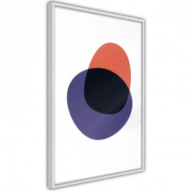 Póster - White, Orange, Violet and Black