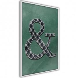 Pôster - Ampersand on Green Background