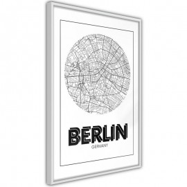 Pôster - City Map: Berlin (Round)