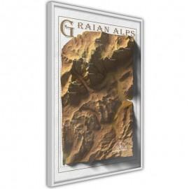 Póster - Raised Relief Map: Graian Alps