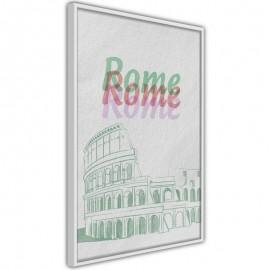 Pôster - Pastel Rome