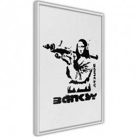 Póster - Banksy: Mona Lisa with Bazooka I