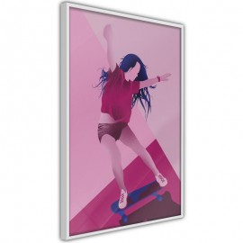 Póster - Girl on a Skateboard