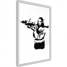 Póster - Banksy: Mona Lisa with Bazooka II