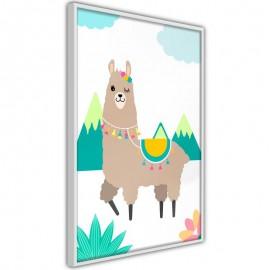 Póster - Playful Llama