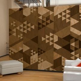 Fotomural - Brown patchwork