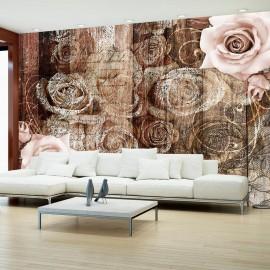 Fotomural - Old Wood & Roses