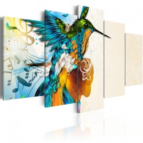 Cuadro - Bird's music - 5 pieces