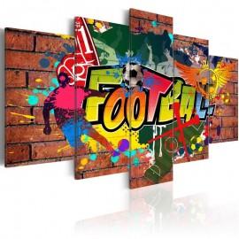 Cuadro - fútbol (graffiti)