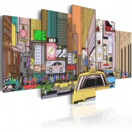 Cuadro - Un dibujo de una ciudad