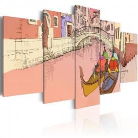 Cuadro - Romantic gondolas - 5 pieces