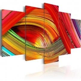 Cuadro - Abstracción de tiras coloreadas