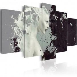 Cuadro - Black or white? - 5 pieces