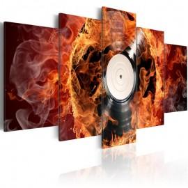 Cuadro - Un vinilo en llamas