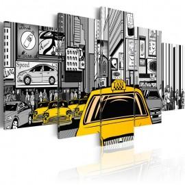Quadro - Cartoon taxi