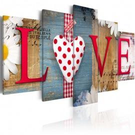 Quadro - LOVE - handmade