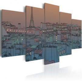 Cuadro - París al crepúsculo