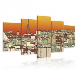 Quadro - Parisian sky in orange colour