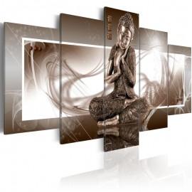 Quadro - Meditando Buda